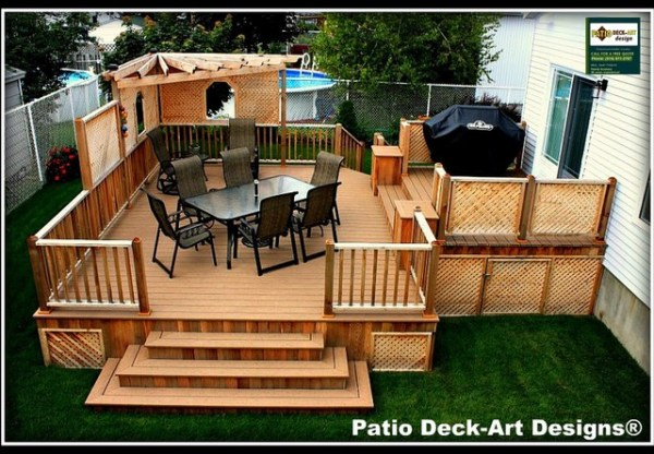 outdoor patio and deck ideas PATIO DECK-ART DESIGNS OUTDOOR LIVING - Contemporary