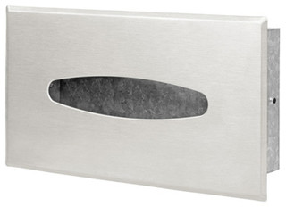 Wall Mounted Recessed Tissue Box Cover - Contemporary ... on Wall Mounted Tissue Box Holder id=77975