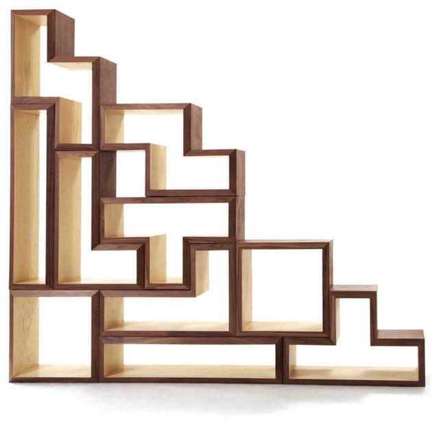 Brave Space - Tetrad Mega Piece Set modern-wall-shelves