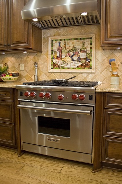 Wine Mosaic Theme Collectors Kitchen Traditional