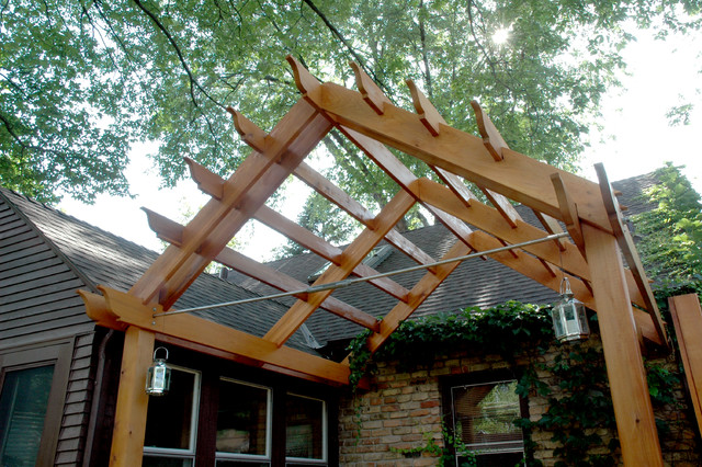 Private Outdoor Living With A Pergola And Lattice On A