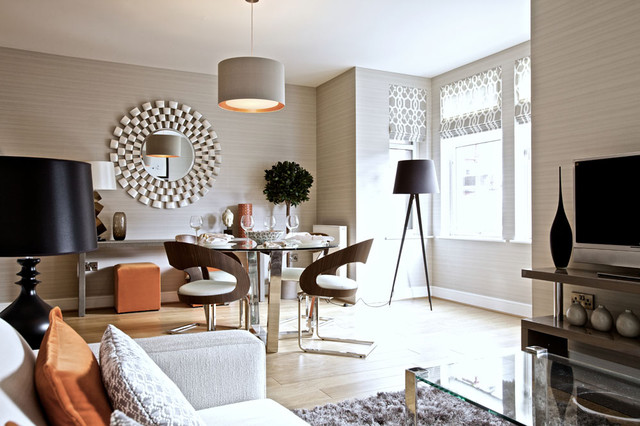 contemporary family room by The Couture Rooms