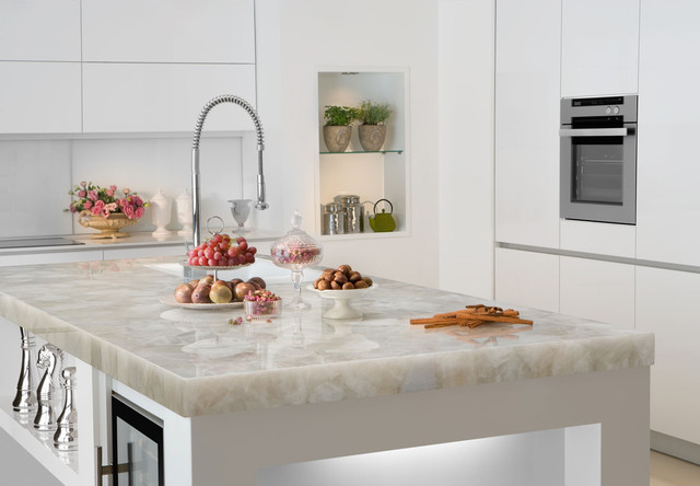 White Kitchen Cabinets With Quartz Countertops Quicua