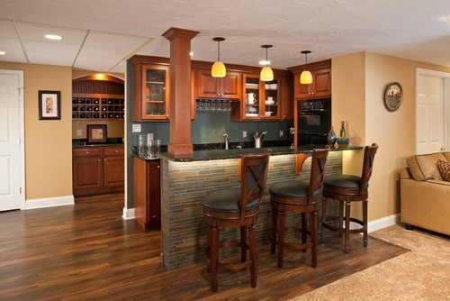 Custom Built Unique Basement Wet Bar Design Ideas on Small Wet Bar In Basement  id=72861