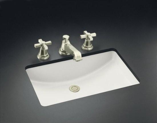 """KOHLER K-2215-0 Ladena Undermount Bathroom Sink, 21"""" X 14"""