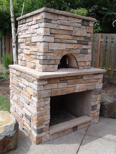 Pizza oven - Traditional - Patio - portland - by Brown ... on Outdoor Patio With Pizza Oven  id=95141