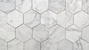 "Bianco Carrara 3"" Polished Hexagon MarbleTiles"
