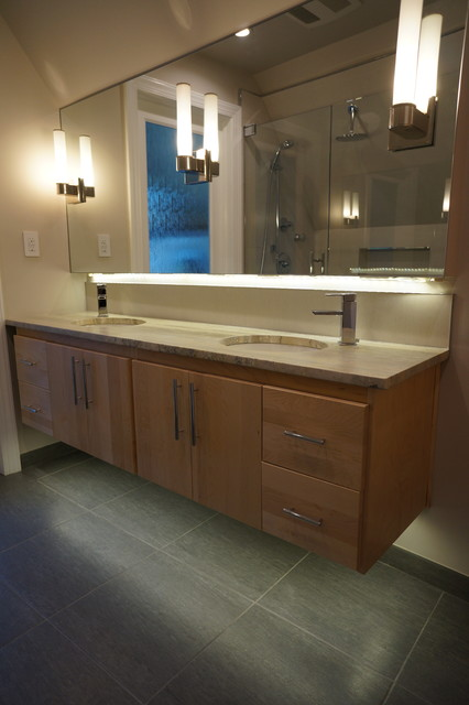 Mid Century Master Bath Modern Bathroom Philadelphia By StoneMar Natural Stone Company LLC