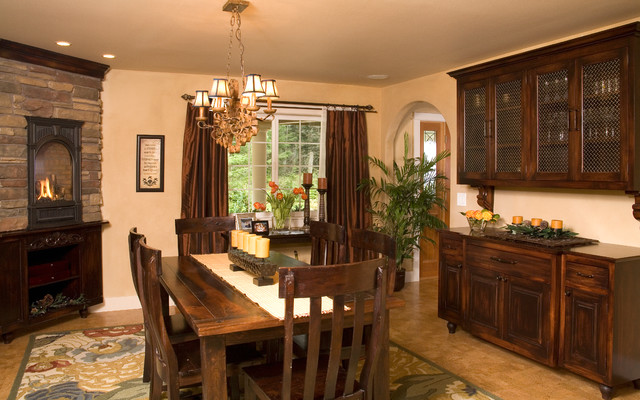 Rustic Elegance Kitchen And Dining Room