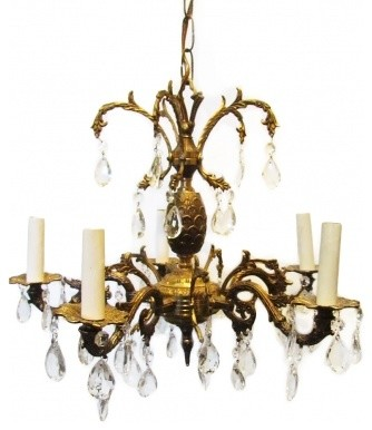 Spain Chandeliers Brass Spanish Traditional Vintage Chandelier Crystal From