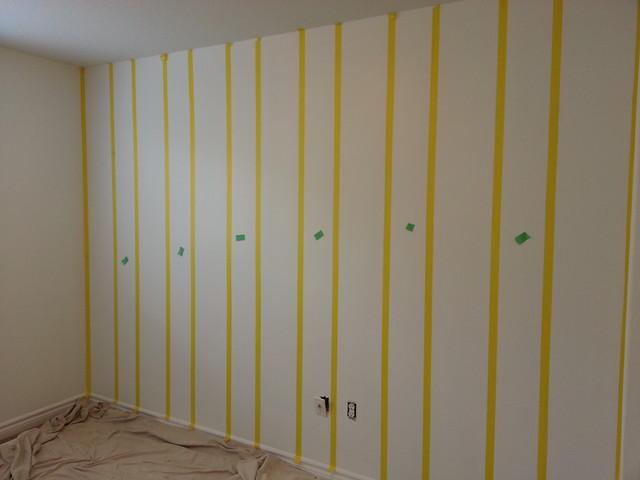 Crisp stripes are all in the prep work