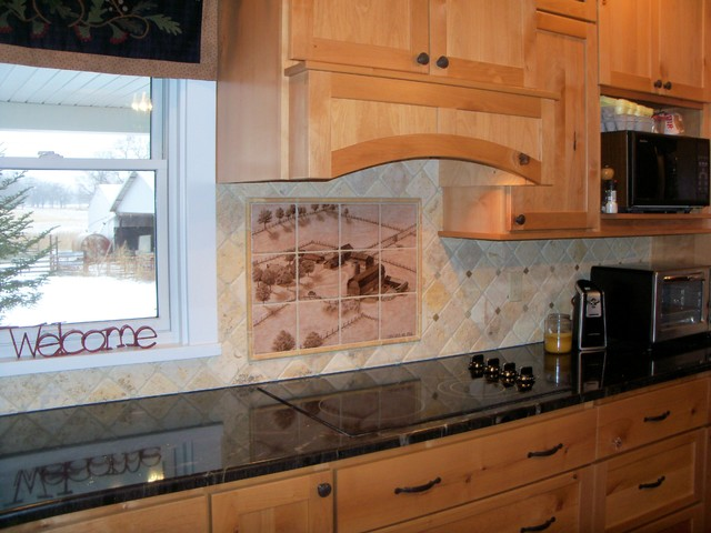 """""""1953 Concord, Michigan Farmstead"""" Hand Painted Kitchen"""