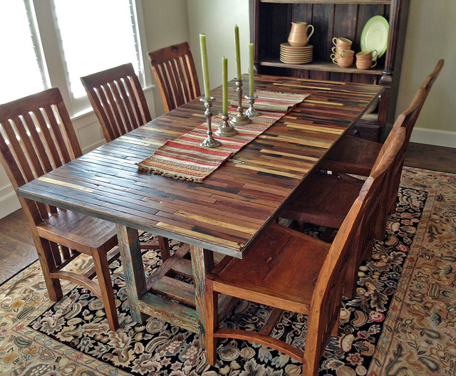 Salvaged / Reclaimed Boat Wood Dining Table (custom