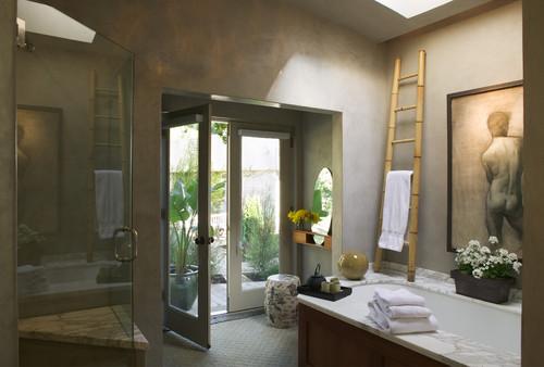 decoracion-ecologica-con-bambu-toallero