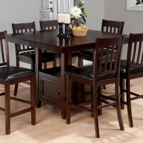 counter height storage dining table Jofran Tessa Counter Height Dining Table with Storage