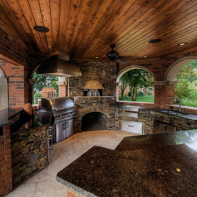 Outdoor Kitchens - Traditional - Outdoor Grills - other ... on Outdoor Grill Patio id=15565