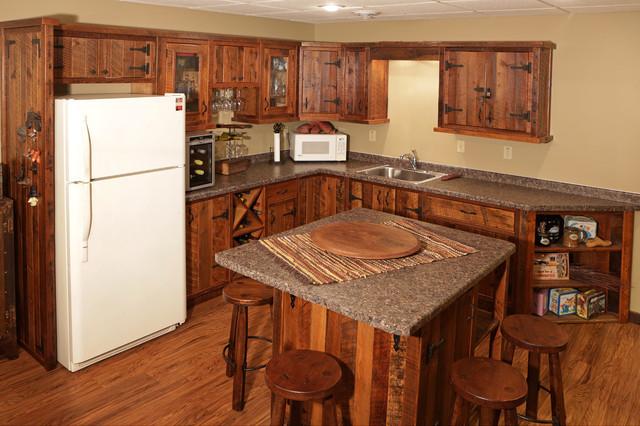 Barnwood Cabinets Rustic Kitchen