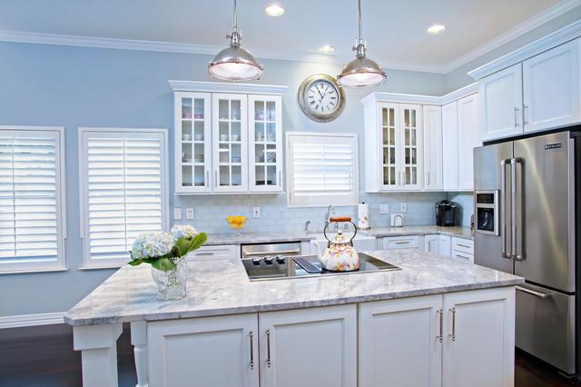 Kitchens White Marble Countertops