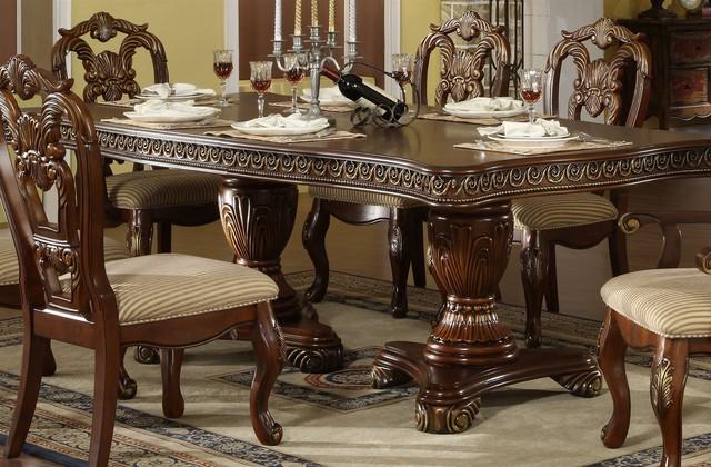Double Pedestal Dining Set