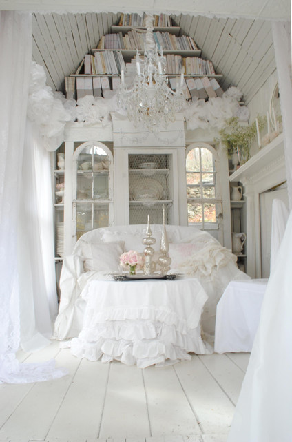 Sandy Foster - My Shabby Streamside Studio traditional living room