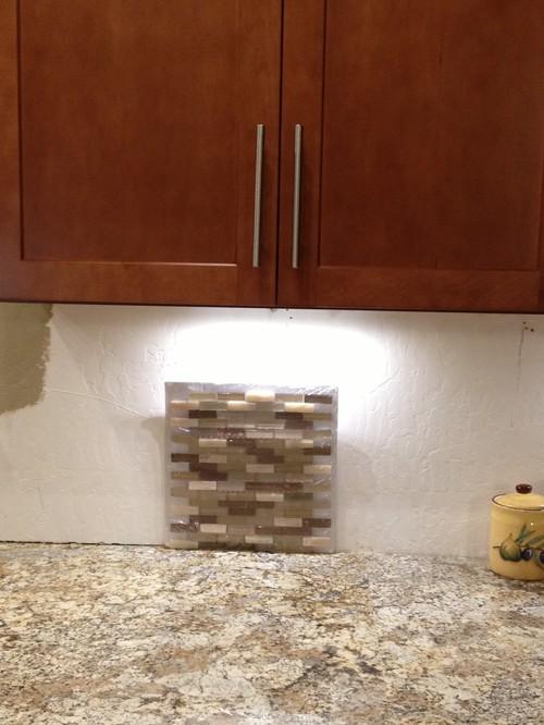 Yellow Subway Tile Kitchen Backsplash