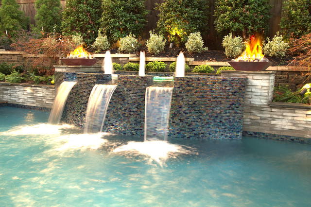 Collierville Modern Geometric Pool, Spa, & Outdoor Living ... on Outdoor Living Spa  id=69178