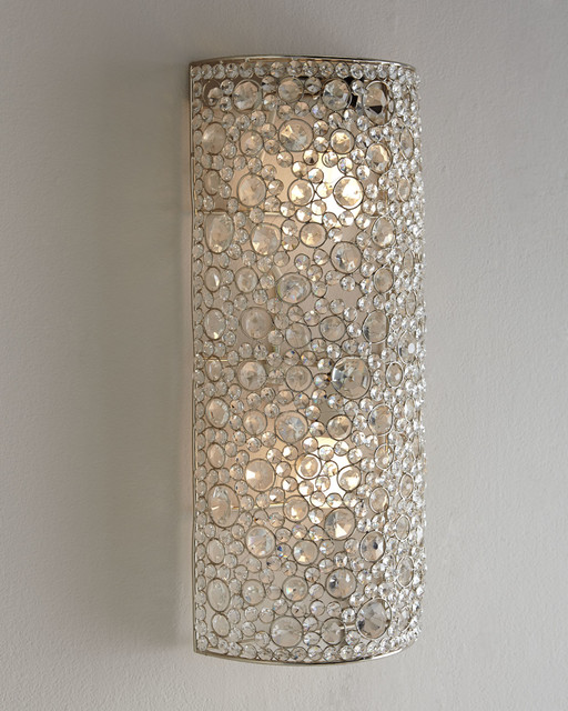 """Four Hands """"Scattered Crystal"""" Sconce - Wall Sconces - by ... on Wall Sconce Lighting Decor id=35586"""