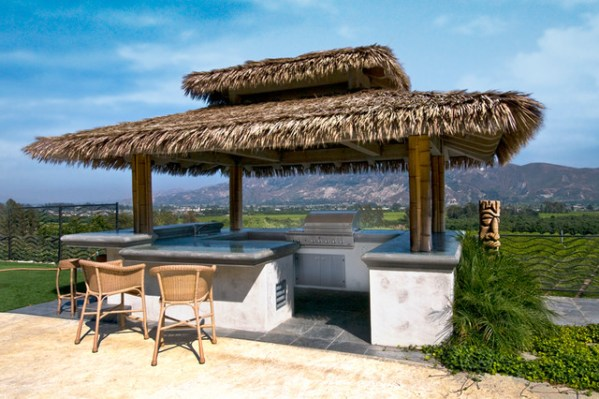 tropical patio outdoor kitchens Tropical Palapa Outdoor Kitchen - Tropical - Patio - los