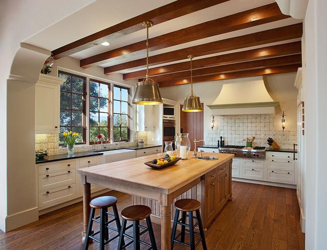 Hope Ranch Spanish Style Custom Home Kitchen Mediterranean