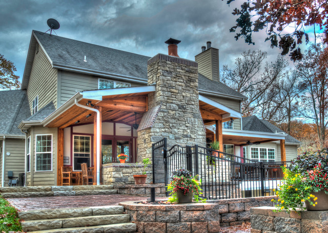 Outdoor Living Rooms - Rustic - Porch - st louis - by ... on Houzz Outdoor Living Spaces id=15167