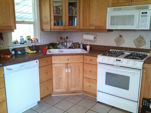 need granite suggestion to match honey maple cabinets and ... on Gray Countertops With Maple Cabinets  id=71154