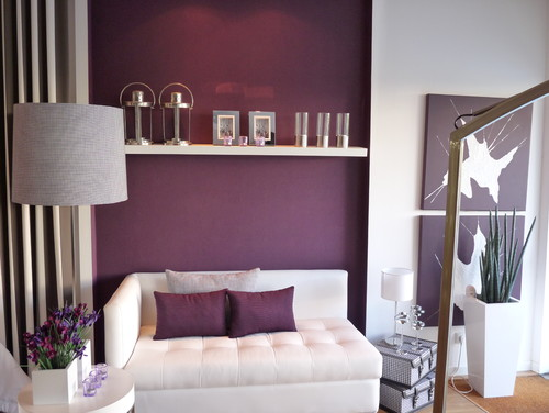 Plum. Darker, reddish purples are warm and sophisticated.