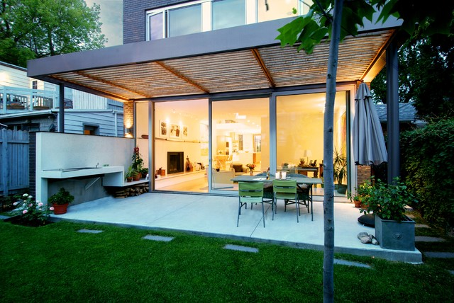 Covered Outdoor Patio - Modern - Patio - toronto - by ... on Modern Backyard Patio id=81148