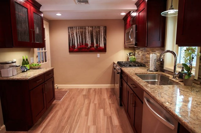PORCELAIN Faux Wood Flooring Traditional Kitchen Boston By Tile By Design