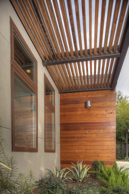 Reclaimed Redwood Shade Structure Modern Exterior
