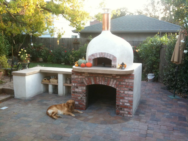 Outdoor Dome Roof Wood Fired Pizza Ovens - Eclectic ... on Outdoor Patio With Pizza Oven  id=51586