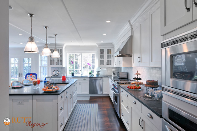 Long Island White Kitchen Featuring Rutt Regency Cabinetry