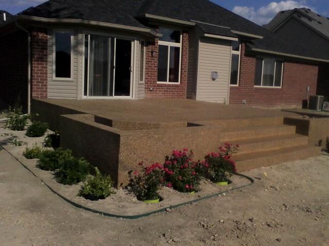 Raised Patio Macomb Township - Traditional - Patio ... on Raised Concrete Patio Ideas id=76688