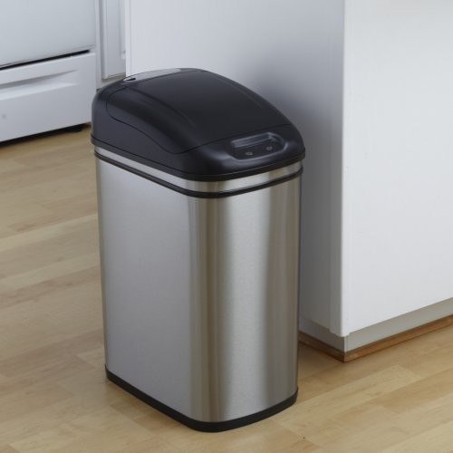 Stainless Steel Gallon Trash Can Contemporary Kitchen Cans