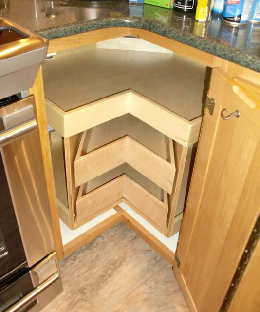 Corner Cabinet Solutions - Kitchen Drawer Organizers ... on Corner Sconce Shelf Cabinet id=93973