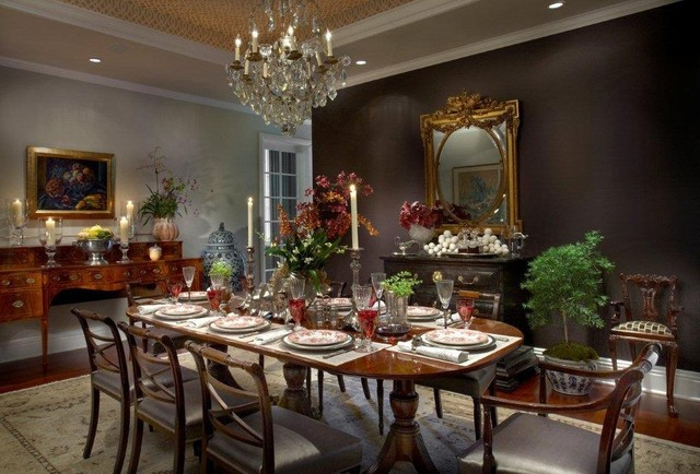 Sheridan Road Residence traditional dining room