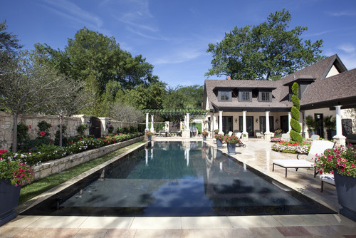 Perimeter Overflow Pool by Rosebrook Pools via Houzz.com