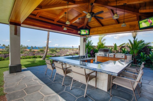tropical patio outdoor kitchens Hawaii 1 - Tropical - Patio - other metro - by Norelco