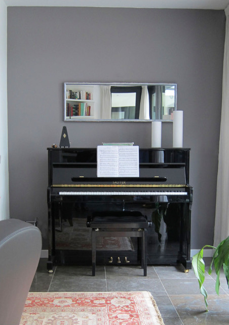 Mirror Above Piano Contemporary Living Room Other