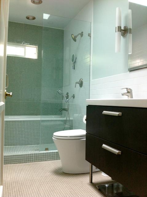 Bathroom With Japanese Inspired Showertub Space Contemporary Bathroom Los Angeles