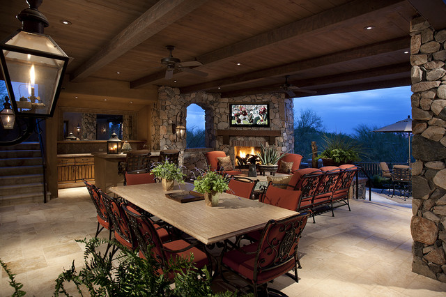 Outdoor Living Room - Mediterranean - Patio - other metro ... on Outdoor Living And Patio id=41332