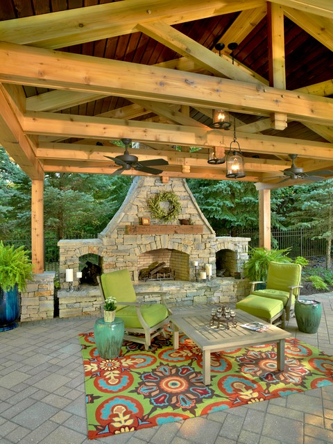 Outdoor Spaces - Traditional - Patio - cincinnati - by ... on Houzz Outdoor Living Spaces id=12601