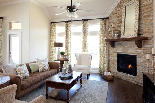 K. Houvanian Homes Via Houzz   Corner Fireplace Furniture Arrangement
