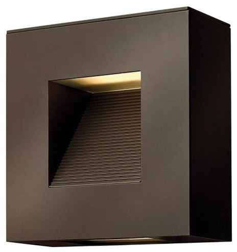Luna Square Outdoor Wall Sconce by Hinkley Lighting ... on Modern Outdoor Wall Sconce id=26762