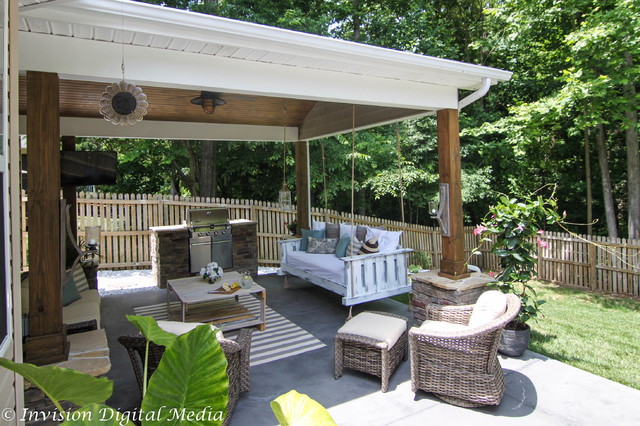 Luxury Outdoor Living - Rustic - charlotte - by Invision ... on Fancy Outdoor Living id=39327